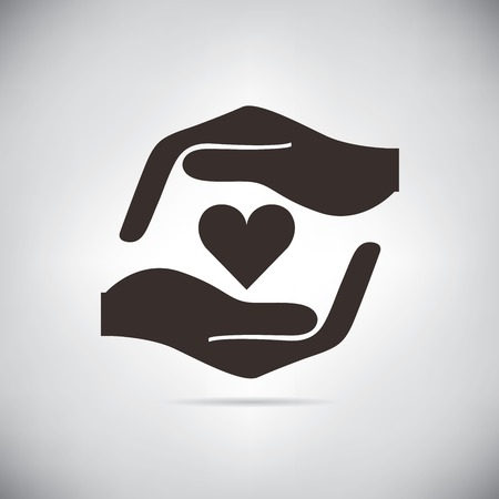 hand heart: hand holding the heart