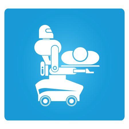 emergency room: medical robot Illustration