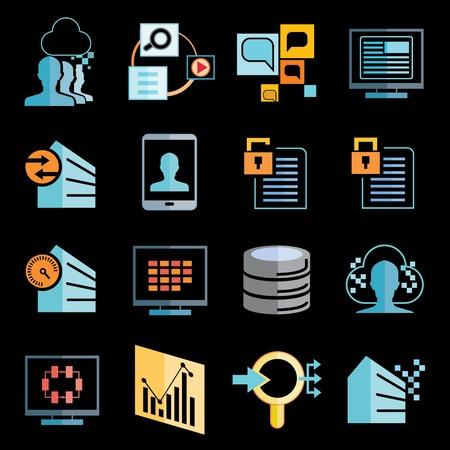 illustratin: big data icons
