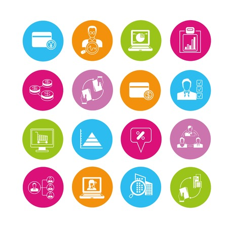 icons business: business icons Illustration