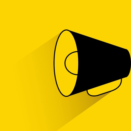 loudhailer: megaphone Illustration