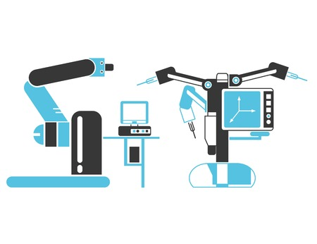 invasive: surgery robot icons