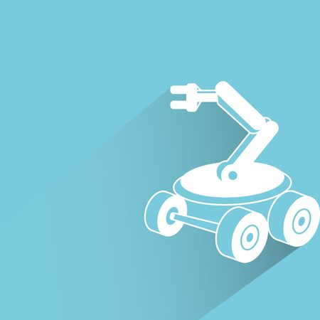 factory automation: rescue robot Illustration