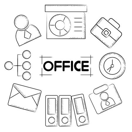 dealings: office Illustration