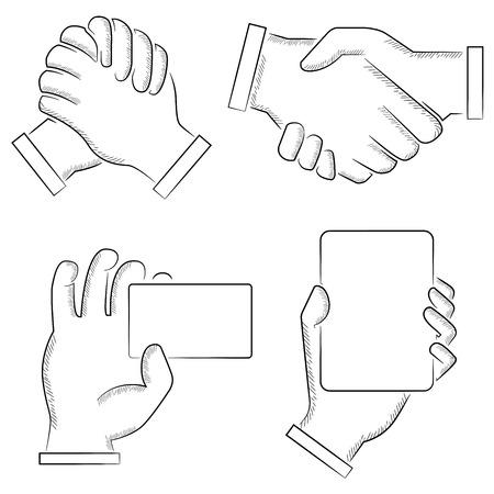 manejar: señales de mano Vectores