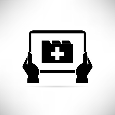 doctors and patient: medical record Illustration