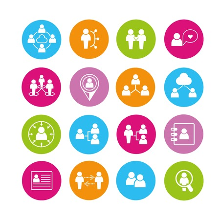 and activities: people icons Illustration