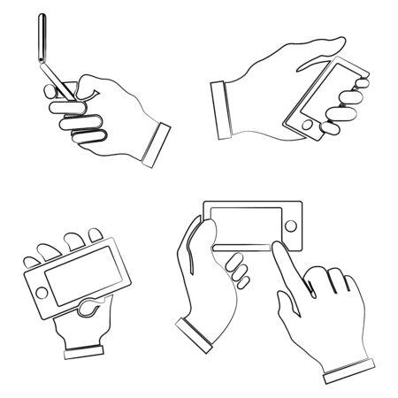 smartphone hand: hand holding smartphone