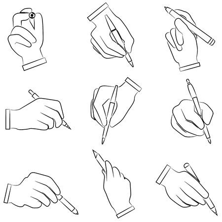 hand writing: hand writing icons