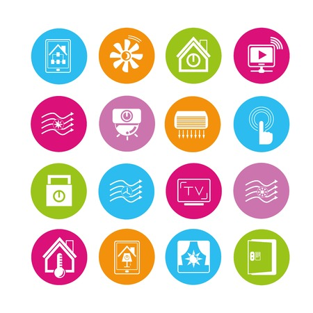 clean air: smart home icons