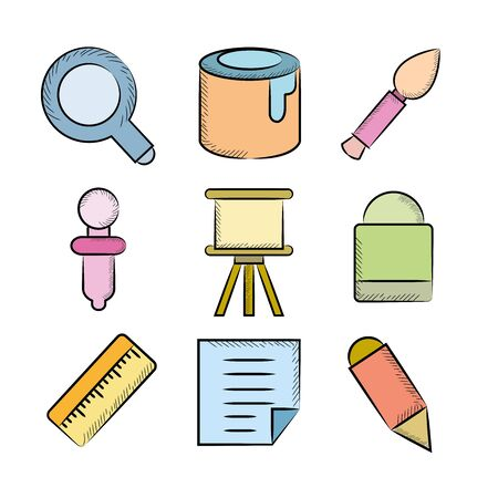 habiliment: painting tool icons