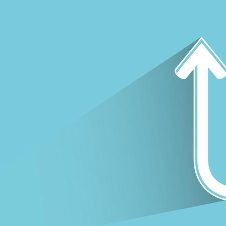 arrow, up side way