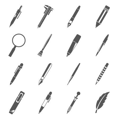 Icone della penna Archivio Fotografico - 42157520