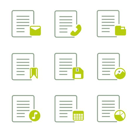 contact information: document icons