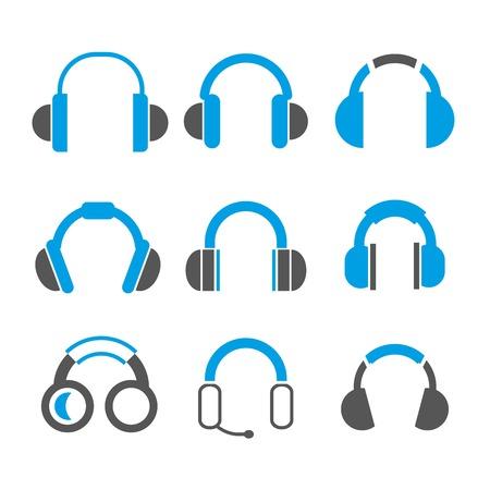 auriculares dj: auriculares Vectores