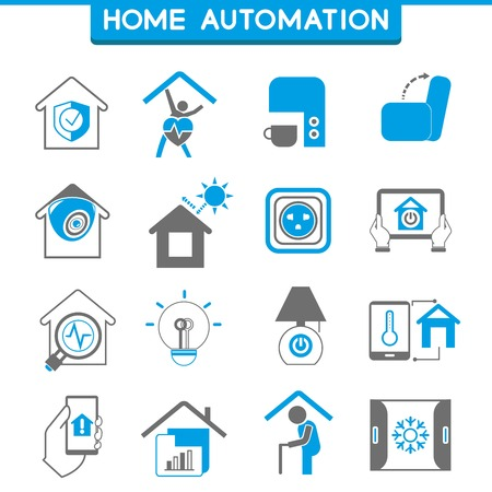 electronic security: home automation icons, smart home