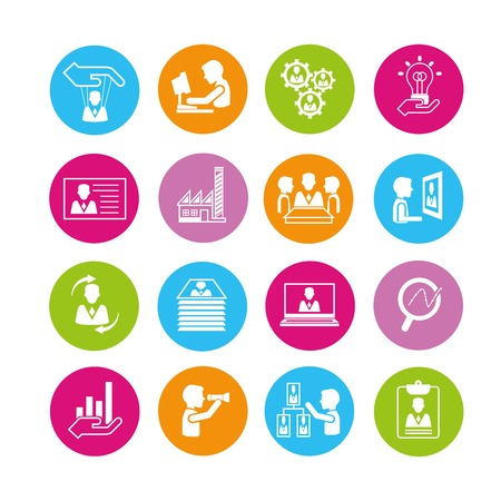 human resource affairs: business and company management icons
