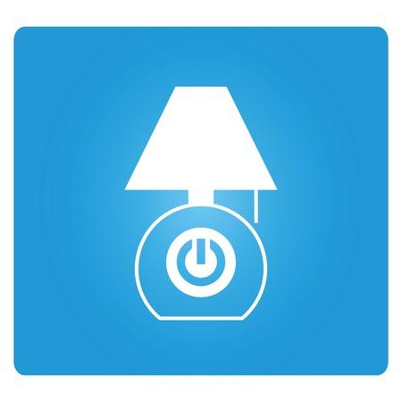 turn table: lamp icon Illustration