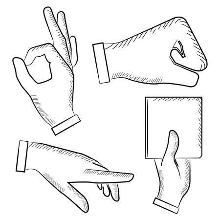 gestures: sketched hand sign Illustration