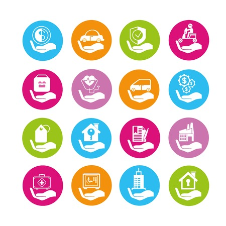 sponsorship: insurance icons Illustration