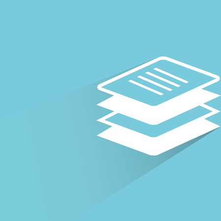 stack of documents: document