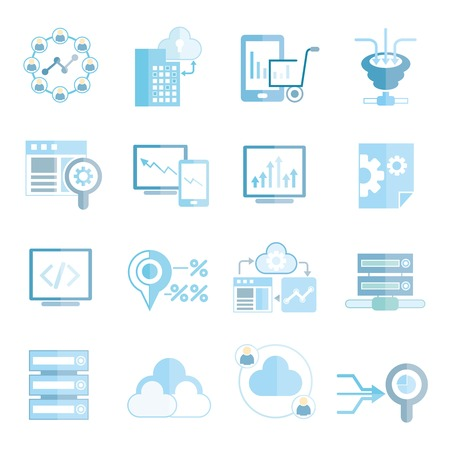 data icons, network icons Vector Illustration