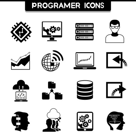 software code: programming icons