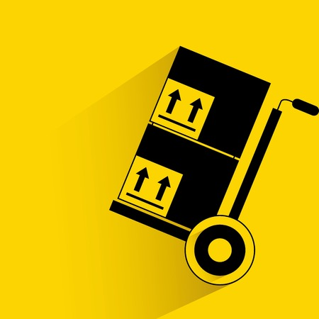 handtruck: trolley and box