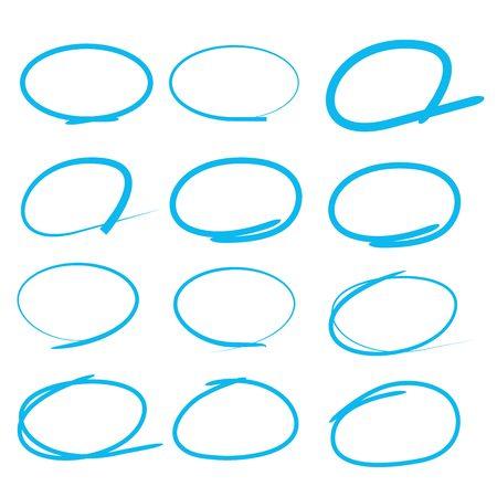 blue circle: rotulador azul, serie c�rculo azul