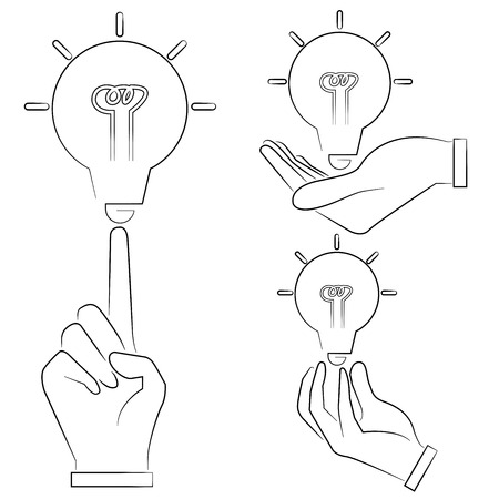 intelligent: sketched hand holding arroes