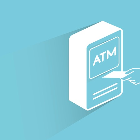 automatic teller machine bank: ATM Illustration
