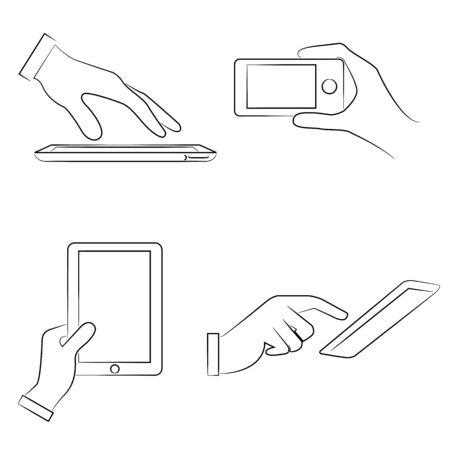 holding smart phone: hand holding smart phone