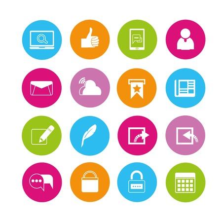 iconos: iconos de Web Vectores