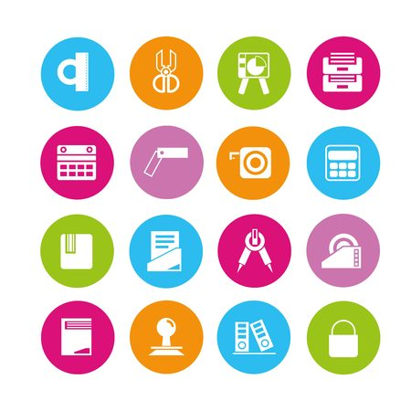 office supply: office supply icons Illustration