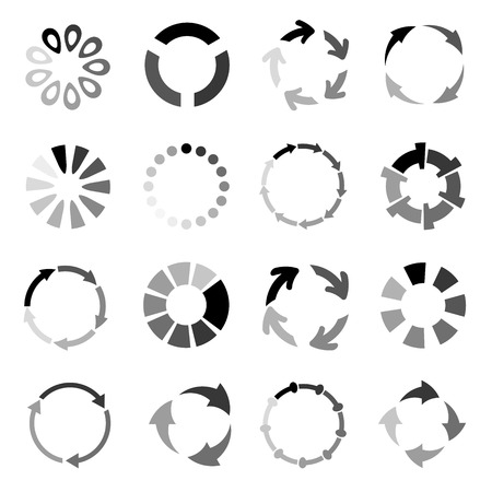 buffer: buffer icons, loading icons Illustration