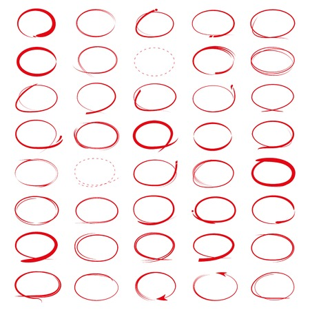 red highlighter circle set