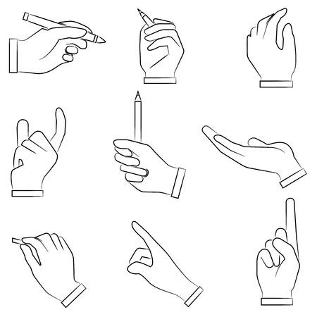 gestures: sketched hand gesture sign