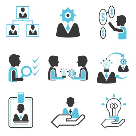 tendance: management icons Illustration