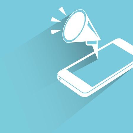 phone vector: mobile marketing