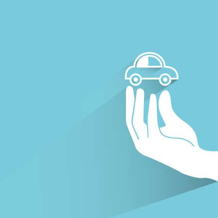 eco car: coche ecol�gico Vectores