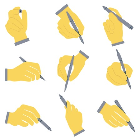 documentation: writing icons, hand holding pen