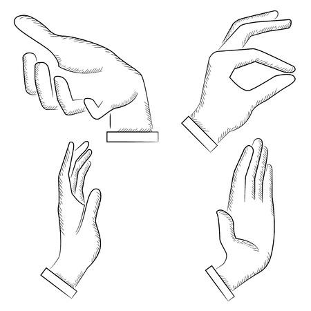 gesture set: sketched hand gesture set