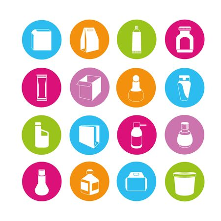 pack: packaging icons Illustration