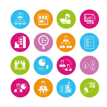 allocate: business icons Illustration