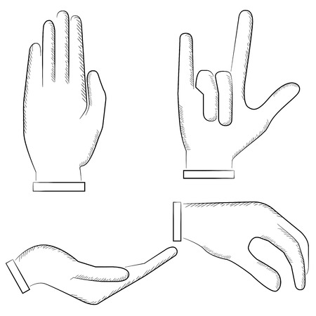 gesticulation: hand signs