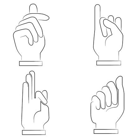 little finger: hand signs