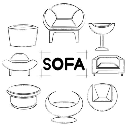 vector chair: sofa