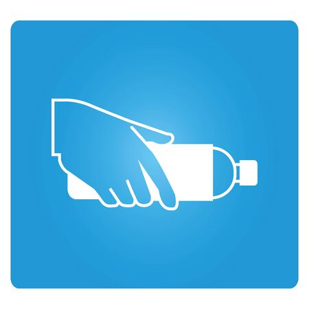 hand holding: hand holding  a bottle Illustration