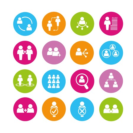 tendance: people management icons Illustration