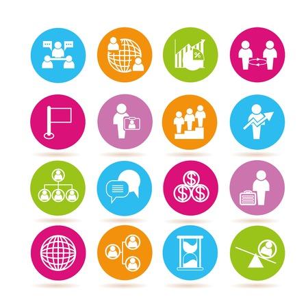 dispensation: management icons Illustration